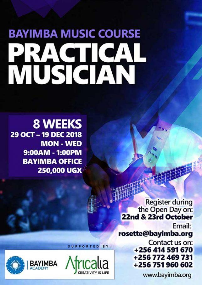 Poster 2018 Bayimba Practical Musician training