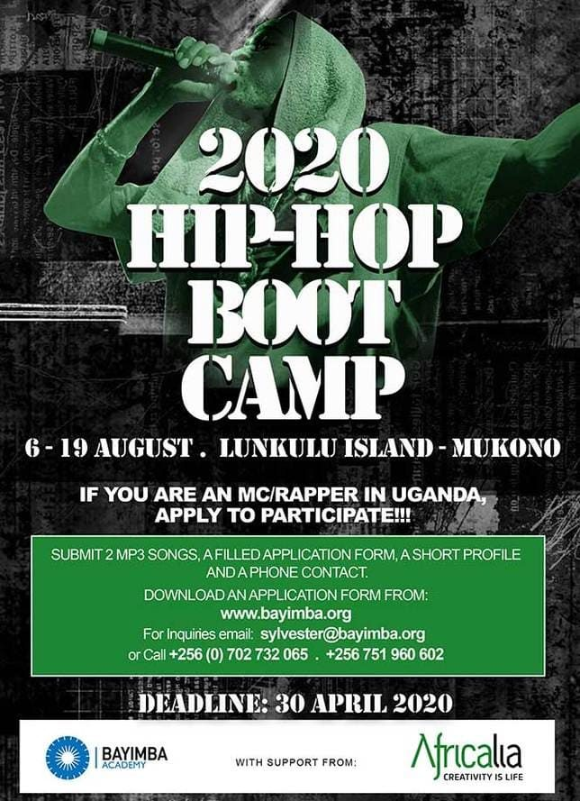 Poster for 2020 Hip Hop Boot Camp
