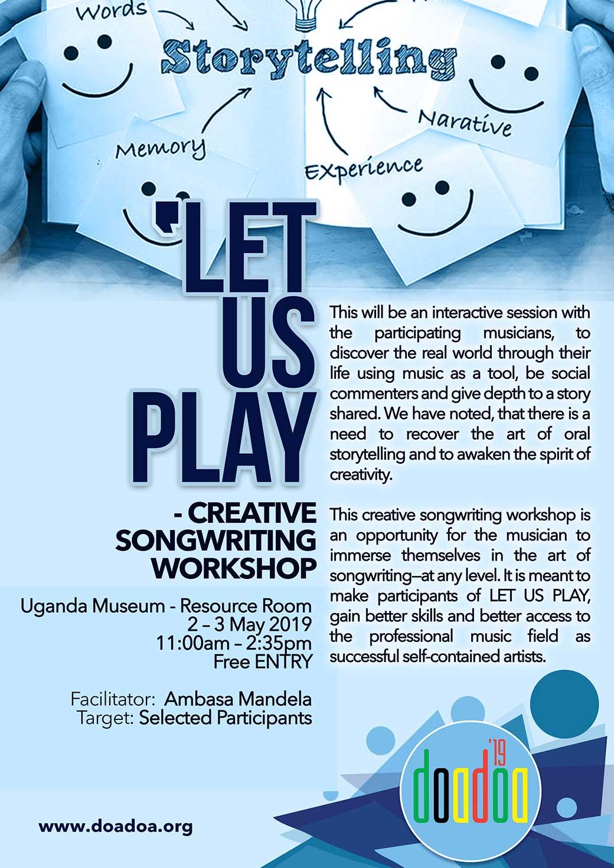 Let Us Play Workshop Poster