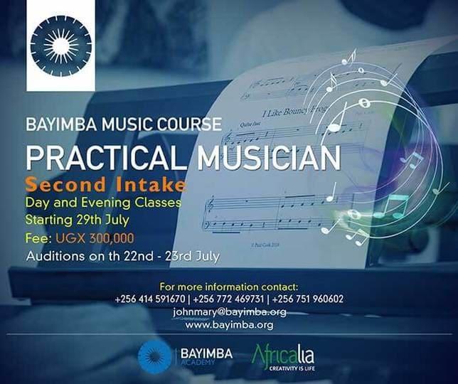 Poster Bayimba Practical Musician music training 2019