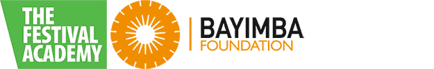 Logos organising partners The Festival Academy and Bayimba Foundation